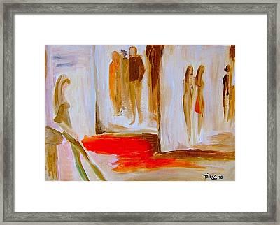Group 96 - Attendre Framed Print by Mirko Gallery