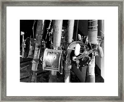 Group Of Fishing Poles Framed Print by Retro Images Archive