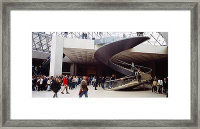 Group Of People In A Museum, Louvre Framed Print by Panoramic Images