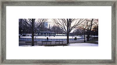 Group Of People In A Public Park, Frog Framed Print by Panoramic Images