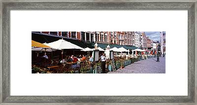 Group Of People In A Restaurant Framed Print by Panoramic Images