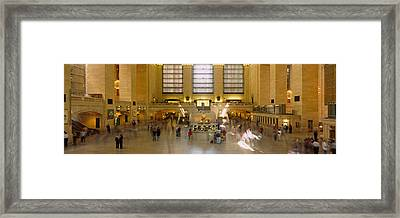 Group Of People In A Subway Station Framed Print by Panoramic Images