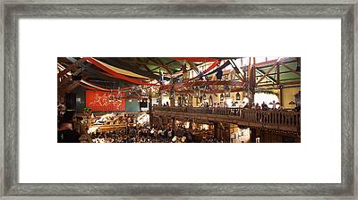 Group Of People In The Oktoberfest Framed Print by Panoramic Images