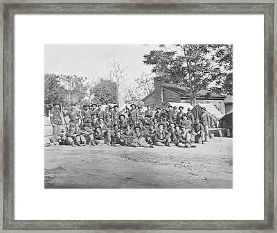 Group Photo Of The 44th Indiana Framed Print by Stocktrek Images