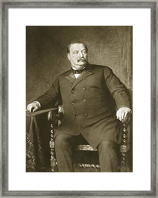 Grover Cleveland Framed Print by American School