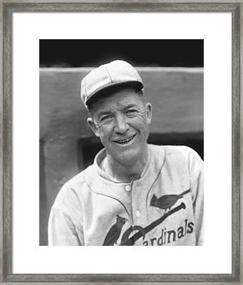 Grover Cleveland Alexander Leaning Smiling Framed Print by Retro Images Archive