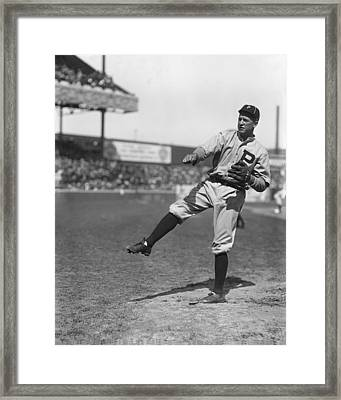 Grover Cleveland Alexander Pre Game Pitching Framed Print by Retro Images Archive