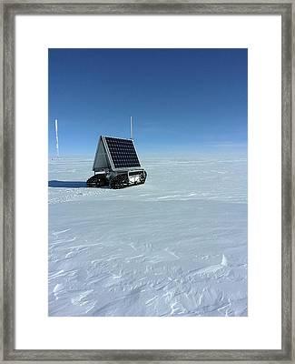Grover Rover Testing Framed Print by Lora Koenig/nasa Goddard