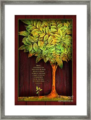 Growing Confidence Framed Print by Shevon Johnson