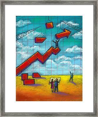 Growth Framed Print by Leon Zernitsky