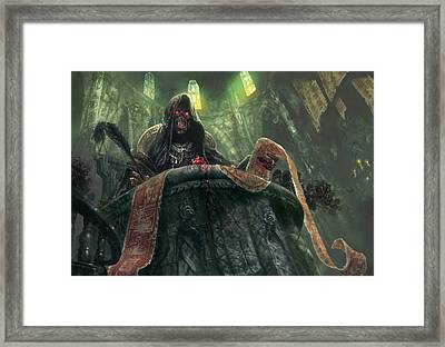 Grudge Keeper Framed Print by Ryan Barger