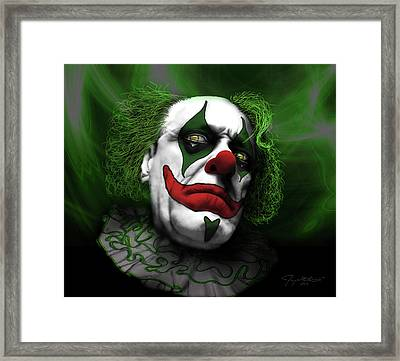 Grumpy Green Meanie Framed Print by Jeremy Martinson