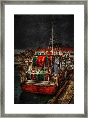 Grunge Art Part Ix - Resting Framed Print by Erik Brede