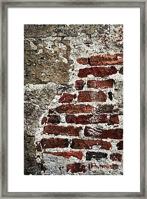 Grunge Brick Wall Framed Print by Elena Elisseeva