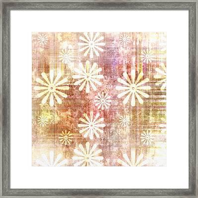 Grunge Flowers Framed Print by Gina Lee Manley