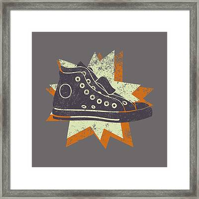 Grunge High Top Sneakers Framed Print by Flo Karp
