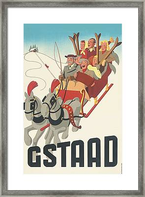 Gstaad Framed Print by Georgia Fowler