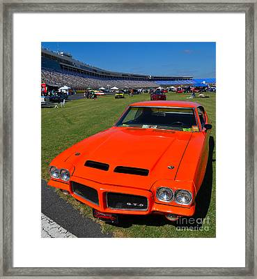 Gto At The Racetrack Framed Print by Mark Spearman