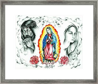 Guadalupe Framed Print by Eddie Egesi