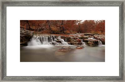 Guadalupe River Panorama Framed Print by Paul Huchton
