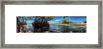 Guamache Beach Venezuela Panorama Framed Print by Mountain Dreams