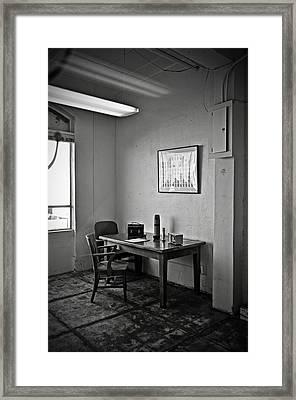Guard Dining Area In Alcatraz Prison Framed Print by RicardMN Photography