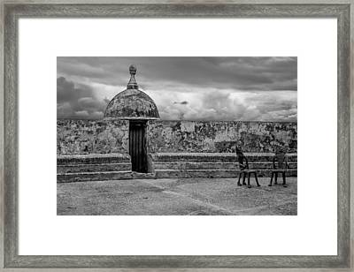 Guard Tower And Chairs Framed Print by Giovanni Arroyo