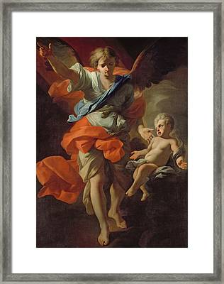 Guardian Angel Framed Print by Andrea Pozzo