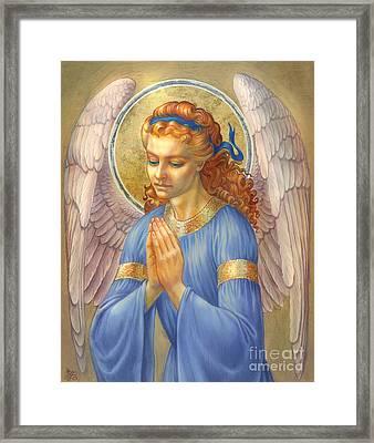 Guardian Angel Framed Print by Zorina Baldescu