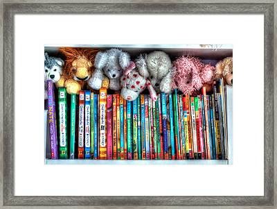 Guardians Of The Library Framed Print by Jeffrey Cohen