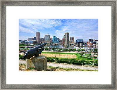 Guarding Baltimore Framed Print by Olivier Le Queinec