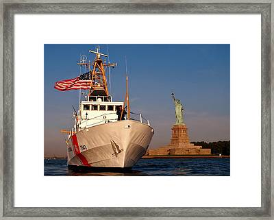 Guarding Liberty Framed Print by Benjamin Yeager