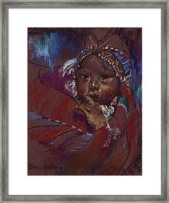 Guatemalan Child Framed Print by Ellen Dreibelbis