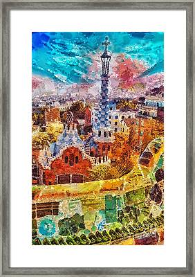 Guell Park Framed Print by Mo T