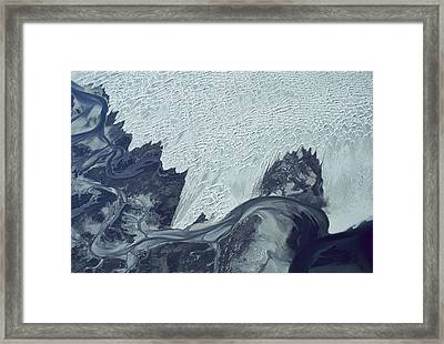 Guerrero Negro Dunes Aerial Baja Mexico Framed Print by Larry Minden