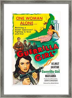 Guerrilla Girl, Us Poster, Bottom Left Framed Print by Everett