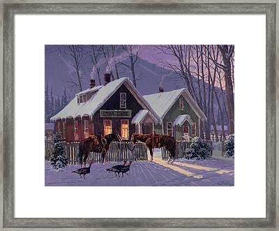 Guest For Dinner Framed Print by Randy Follis