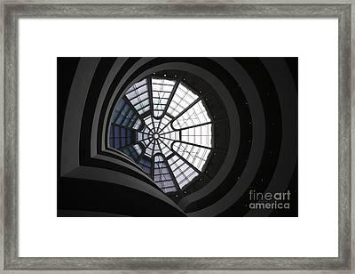 Guggenheim Interior Framed Print by David Bearden