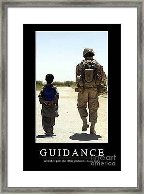 Guidance Inspirational Quote Framed Print by Stocktrek Images