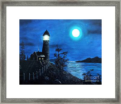 Guiding Lights Framed Print by Barbara Griffin