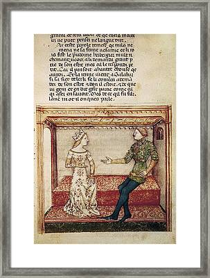 Guinevere And Galaad. Fol. 6 Framed Print by Everett