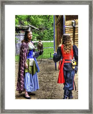 Guinevere Lady Hawk V2 Framed Print by John Straton