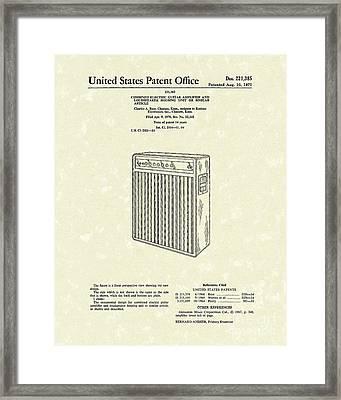 Guitar Amplifier 1971 Patent Art Framed Print by Prior Art Design