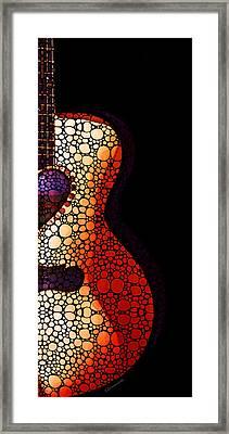 Guitar Art - She Waits Framed Print by Sharon Cummings