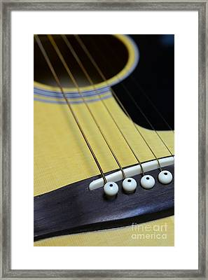 Guitar Bridge Up Close And Personal Framed Print by Paul Ward