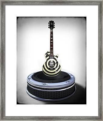 Guitar Desplay V2 Framed Print by Frederico Borges
