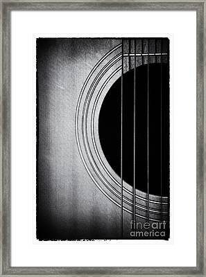 Guitar Film Noir Framed Print by Natalie Kinnear
