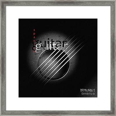 Guitar Framed Print by Franziskus Pfleghart