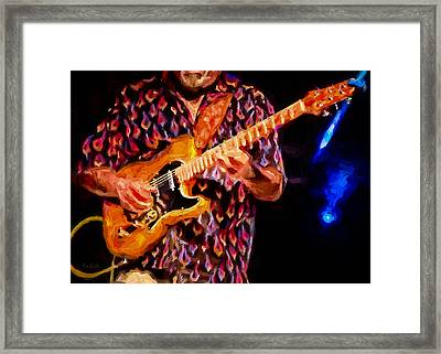 Guitar Man Framed Print by Bob Orsillo