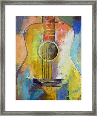 Guitar Melodies Framed Print by Michael Creese